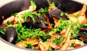 Risotto avec fruits de mer
