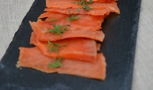 Saumon gravlax à la vodka