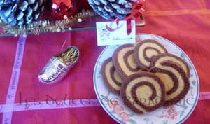 Sablés escargots au chocolat