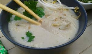 Soupe chinoise express au poisson