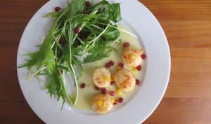 Saint-Jacques meunière et beurre de bergamote