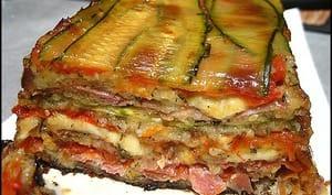Terrine de courgettes, jambon et mozzarella