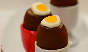 Œufs de Pâques fourrés mousse au Chocolat