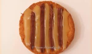 Sablé breton, caramel au beurre salé et ganache chocolat noir