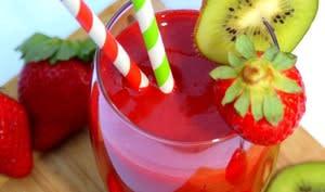 Smoothie fraise et kiwi