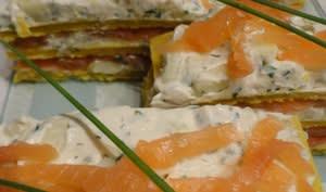 Mille-feuilles de saumon