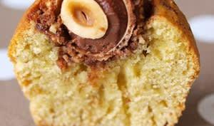 Muffins coeur Ferrero Rocher