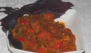 Ragoût d'aubergines aux pommes de terre tomates