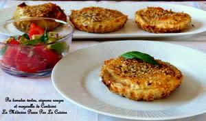 Pie tomates vertes, oignons rouges et mozzarella d'après Philippe Conticini
