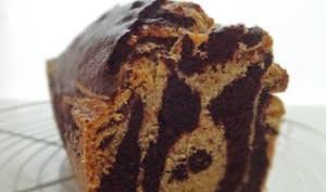 Gâteau marbré chocolat noisette
