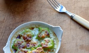 Gratin de Tiges de Brocolis au Gorgonzola