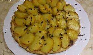 Tatin de pommes de terre au foie gras et truffe fraîche