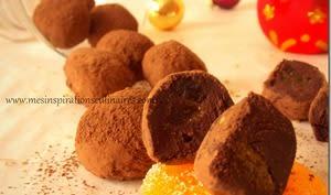 Truffes au chocolat noir et menthe