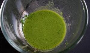 Jus vert épinards roquette et basilic