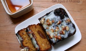 Cake aux figues et aux noisettes