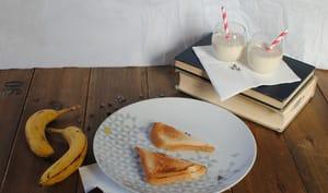 Mini croques banane chocolat praliné