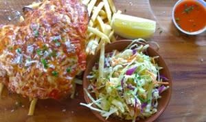 Filets de poisson panés, à la parmigiana