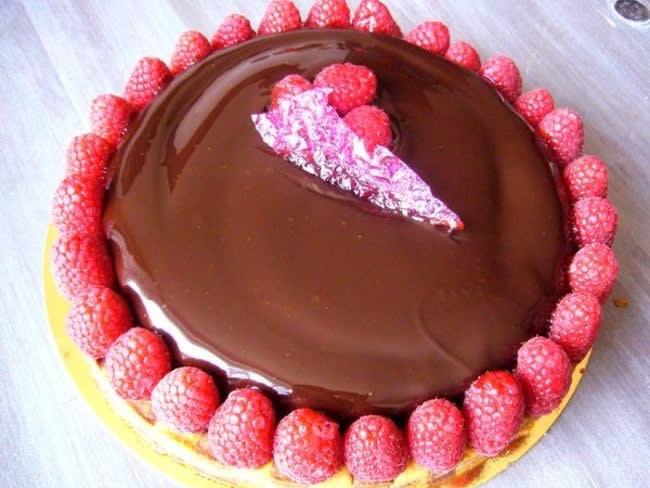 Tarte framboise chocolat