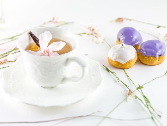 Choux craquelin de Michalak à la vanille et à la myrtille
