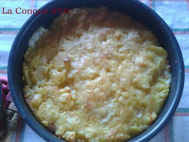 Gâteau de pommes de terre à la mortadelle