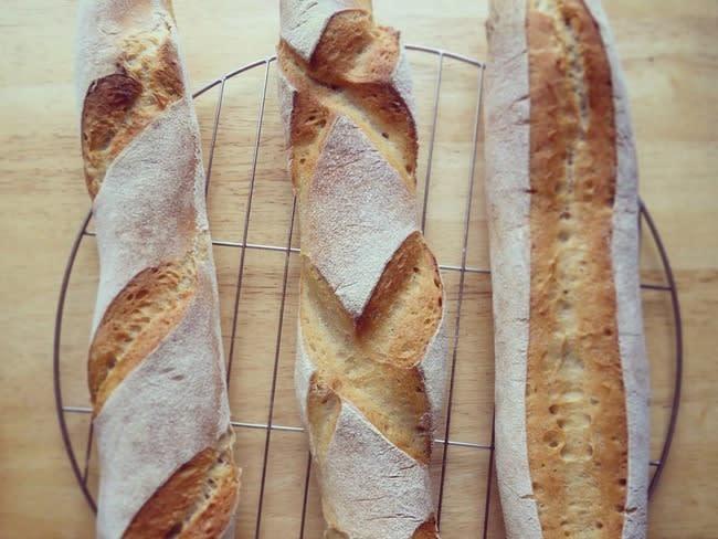 Baguettes à la farine complète