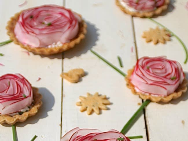 Tarte fleur aux radis