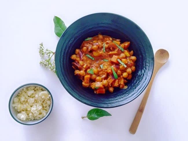 Curry crémeux aux pois chiches