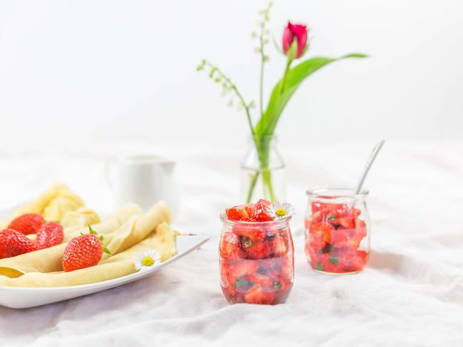 Salade de fraises menthe et citron