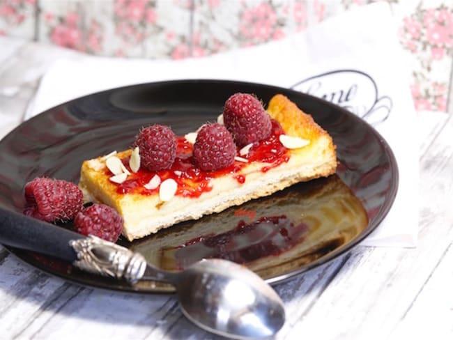Tarte framboises et crème d'amandes