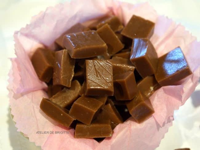 Caramels mous au chocolat au lait et à la fleur de sel