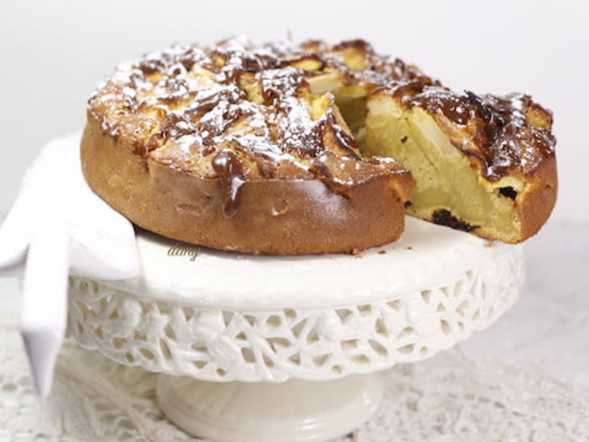 Gâteau aux pommes aux épices et aux carambars