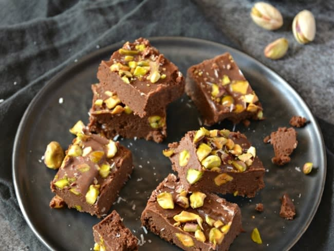 Fudges à la pistache et au chocolat