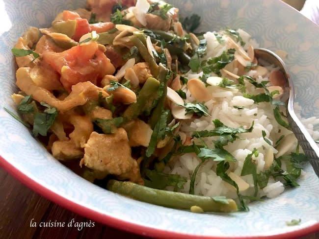 Curry de dinde aux légumes