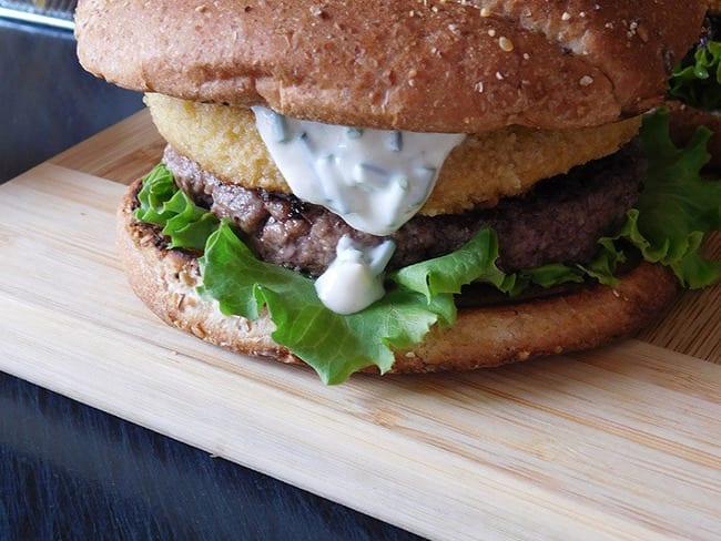 Burger au chèvre