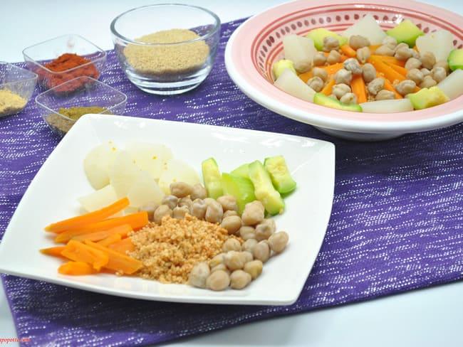 Couscous aux légumes et épices