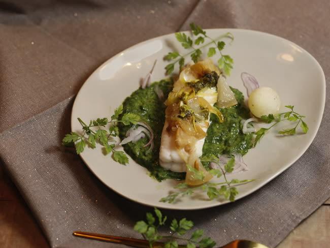 Filets de sole épinards et citron confit