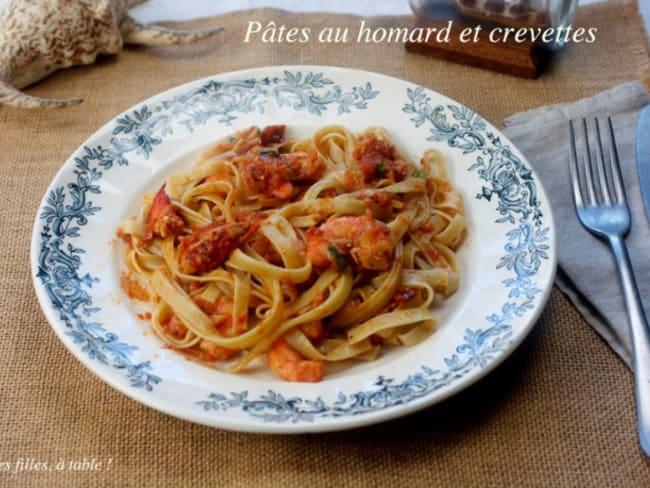 Pâtes au homard et crevettes