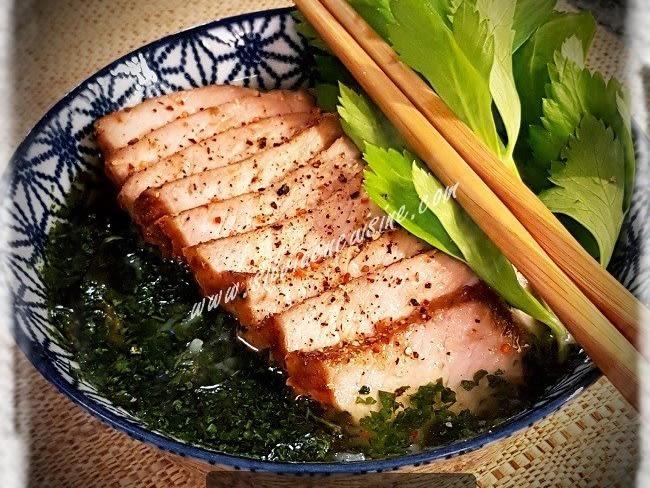 Soupe chinoise au porc char siu