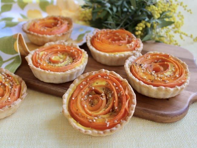 Tartelettes fleurs de carottes
