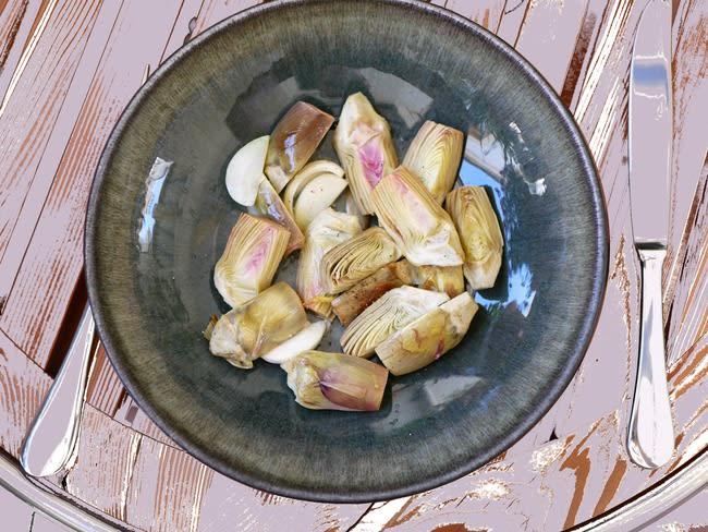 Poêlée d'artichauts poivrade à l'ail nouveau