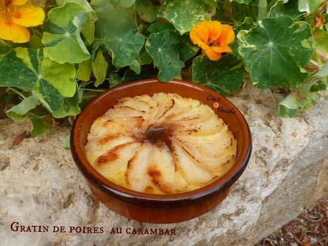 Gratin de poires au Carambar