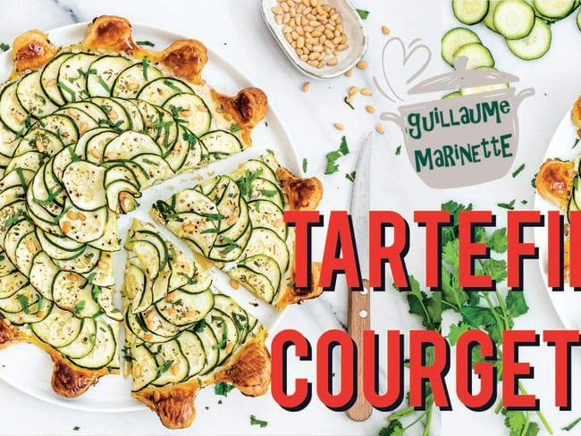 Tarte fine courgettes et boursin