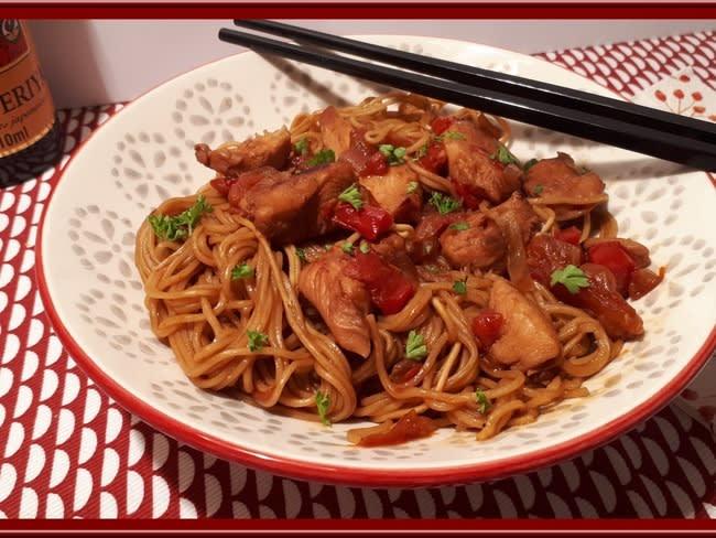 Nouilles Chinoises Au Poulet Avec Le Cookéo Recette Par Oh La Gourmande