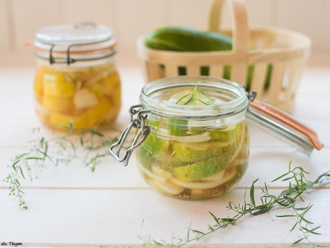 Conserves de concombre à l'aigre douce