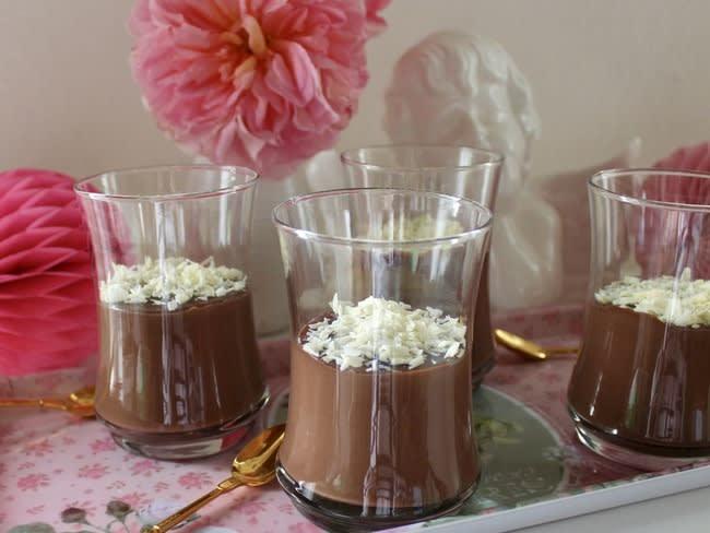 Crèmes dessert au chocolat noir
