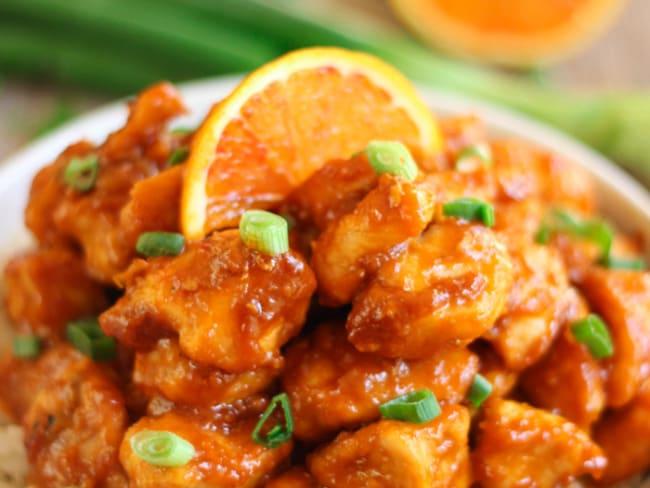 Poulet à l'orange à la chinoise