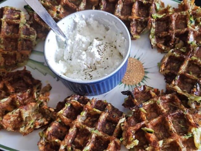 Gaufres salées aux courgettes,carottes et farine de chia