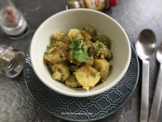 Salade de pommes de terre au cumin et coriandre