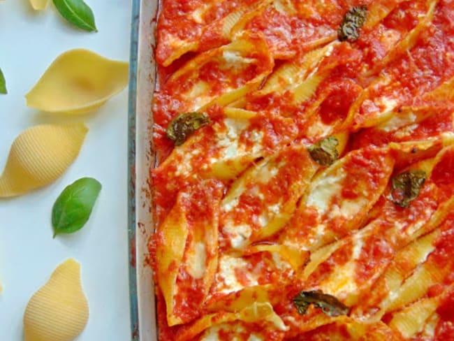 Conchiglioni aux trois fromages