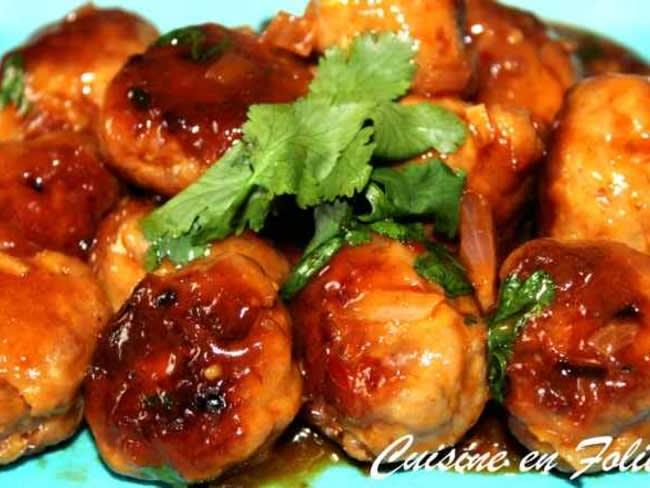 Boulettes de porc sauce aigre-douce